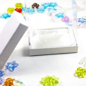 Κουτί με Περλέ Χαρτί και Ζελατίνη 9*9*6cm