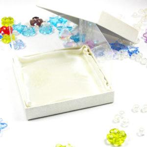 Κουτί με Περλέ Χαρτί και Ζελατίνη 8,5*8,5*6 cm