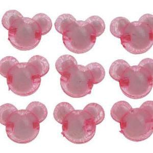 Χάντρες Πλέξι Γκλας 2 cm  - αρκουδάκι