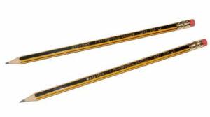 Μολύβι Ξύλινο με ρίγες Scholine Professional 2300 ΗΒ με γομολάστ