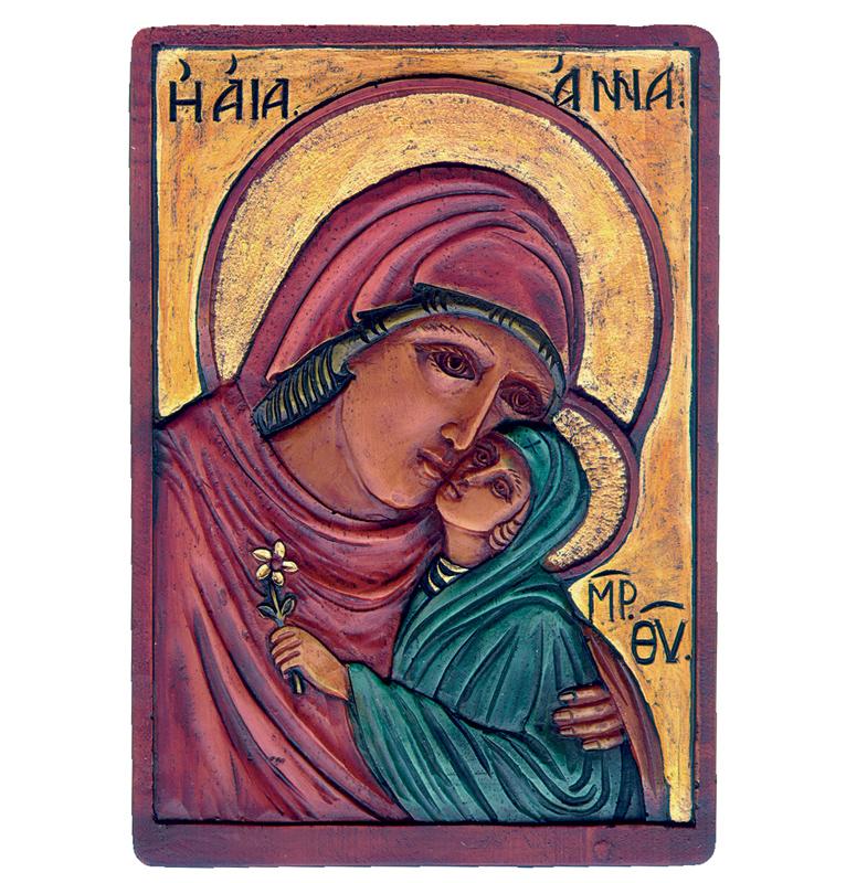 Εικόνα Αγία Άννα με την Παναγία - St. Anna with Virgin