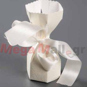 Μπομπονιέρα Γάμου Πουγκί από ανάγλυφο χαρτί