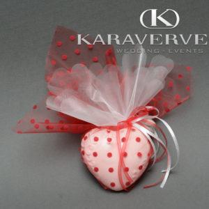 Έτοιμη Μπομπονιέρα Γάμου - ποσελάνινη καρδιά