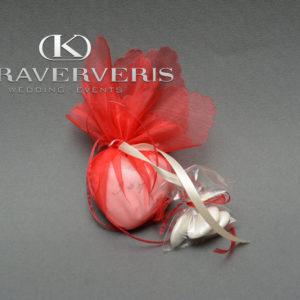 Έτοιμη Μπομπονιέρα Γάμου πορσελάνινη καρδιά 6*6 cm
