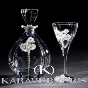 Κρυστάλλινο Σετ Καράφα - Ποτήρι με στρας