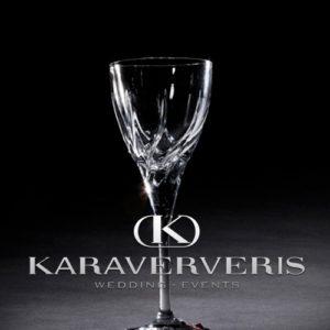 Κρυστάλλινο Ποτήρι κρασιού - ανάγλυφο σχέδιο