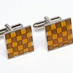 Μανικετόκουμπα Angelo Feliganno πορτοκαλί τετράγωνο