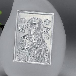 Εικόνα ασημί πάνω σε πέτρα 8.5 (ΚΙΒ. 72ΤΜΧ)