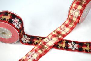 Χριστουγεννιάτικη Κορδέλα με Ελαφάκια