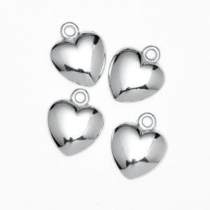 Μεταλλική Ασημένια Καρδιά