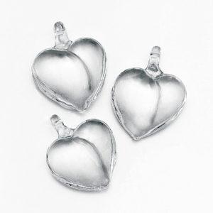 Μεταλλική Ασημί καρδιά