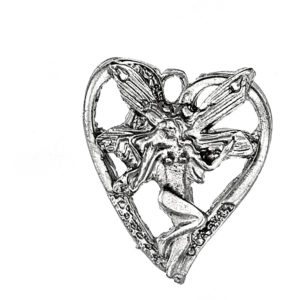 Διακοσμητική Καρδιά Με Νεράιδα 3,5*3 cm